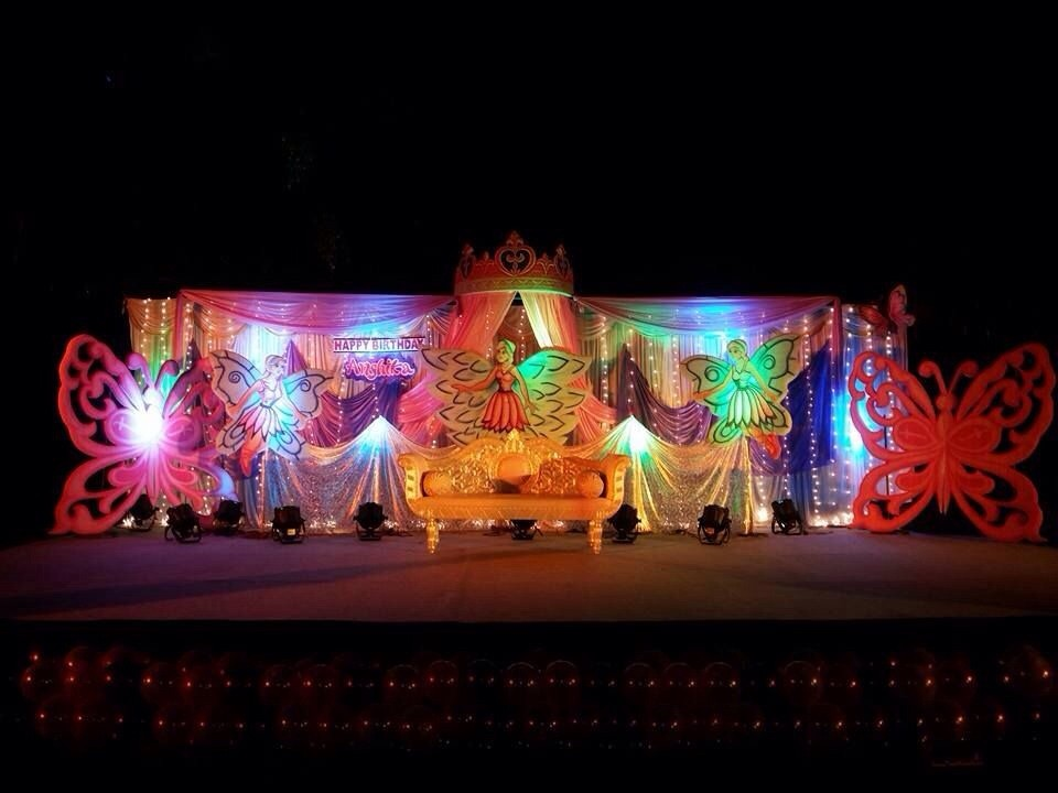 Birthday party organizers and birthday event managers in for 1st birthday stage decoration hyderabad