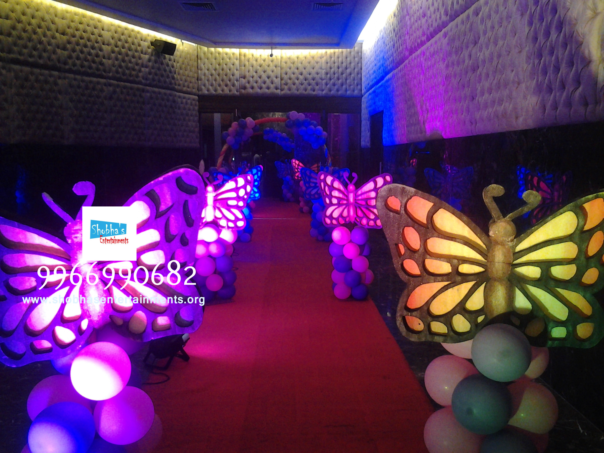 first birthday party theme and balloon decoration in vijayawada