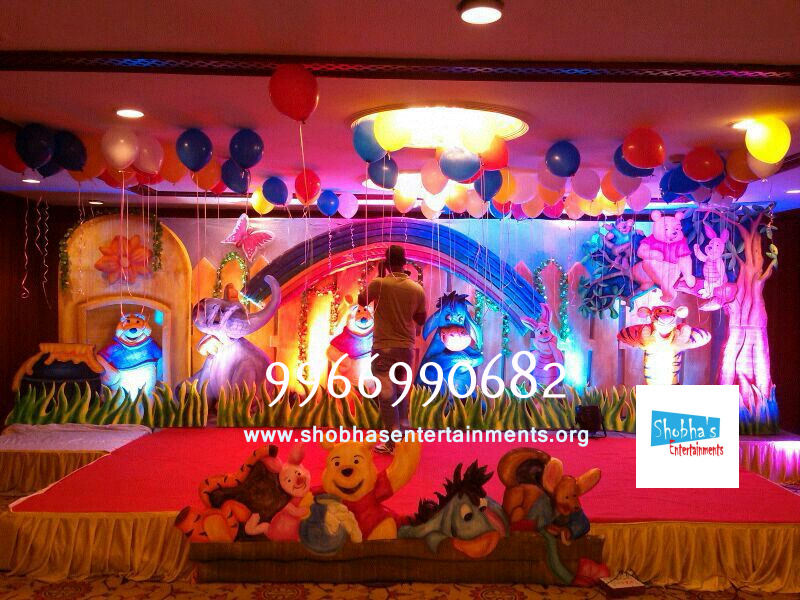 stage kids birthday decoration in vijayawada Shobhas